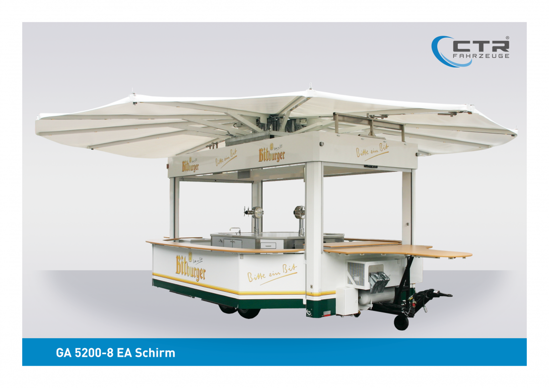 Eventfahrzeug GA 5200-8 EA Schirm Bitburger