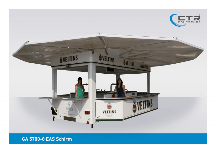 Eventfahrzeug GA 5700-8 EAS Schirm Gekopa Werne Veltins