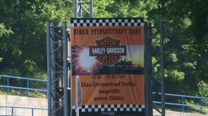 Harley Davidson auf der Insel Rügen