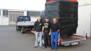 Holger Roth, Nico Moll und Josef Jakoby von CTR Fahrzeuge