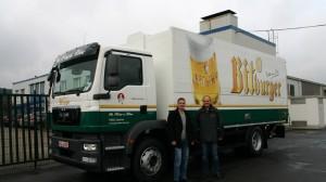 LKW Getränkeaufbau für Heinz und Söhne