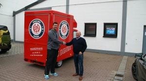 Mainz 05 - Legende Dimo Wache setzt auf CTR Promotion-Fahrzeug