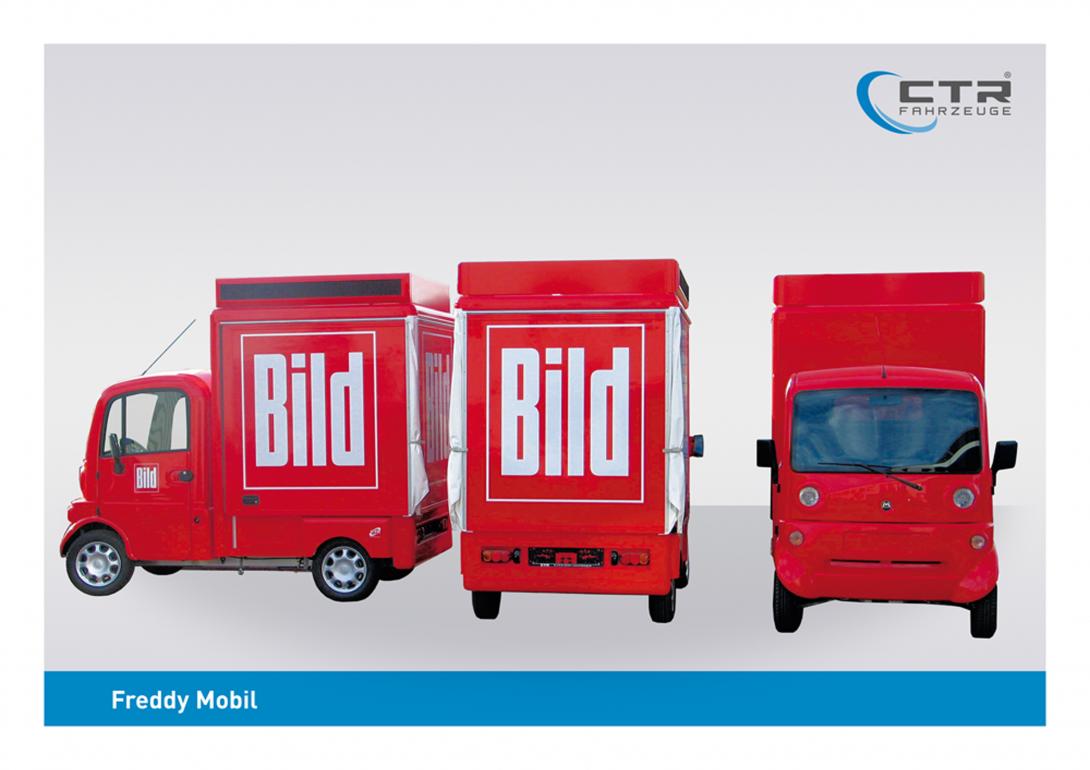 Freddy Mobil Promotionmobil Bild-Zeitung