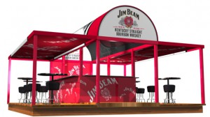 Mobile Cocktailbar für Jim Beam