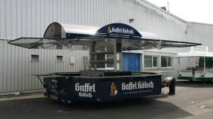 Mobiler Bierstand GA 5000-8 Rene mit Rundbogendachkonstruktion kontrolliert durch den langjährigen Mitarbeiter Gunter Beyer