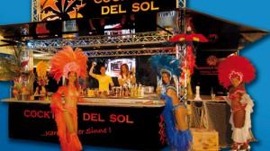 Mobiler Cocktailwagen für Cocktails del Sol