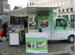 Mobiler Currywurststand für Weight Watchers
