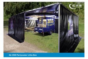 Kühlanhänger Partycooler Little Ben Gaffel Kölsch mit Zelt'
