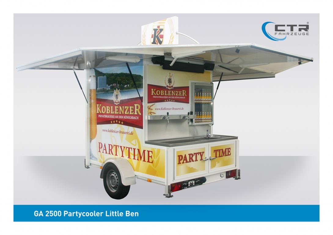 Kühlanhänger Partycooler Little Ben Koblenzer Brauerei