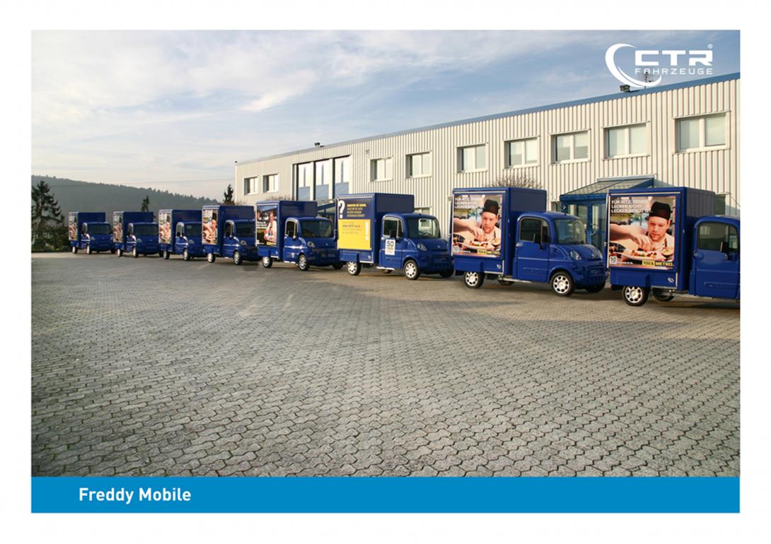Freddy Mobil Promotionmobil Metro CTR Fahrzeuge