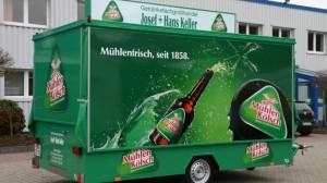 Rechteck-Ausschankwagen für Getränkefachgroßhandel Josef + Hans Keller