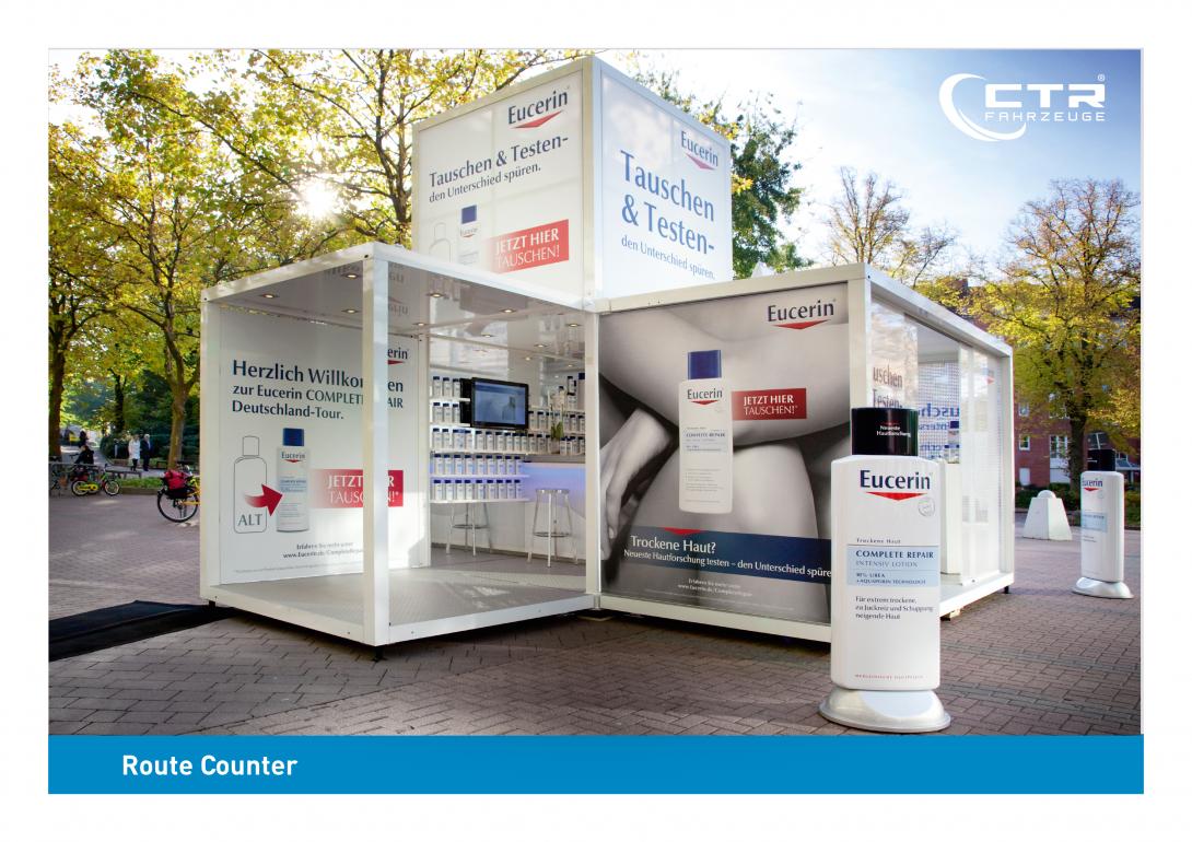 Promocube Route Counter Eucerin