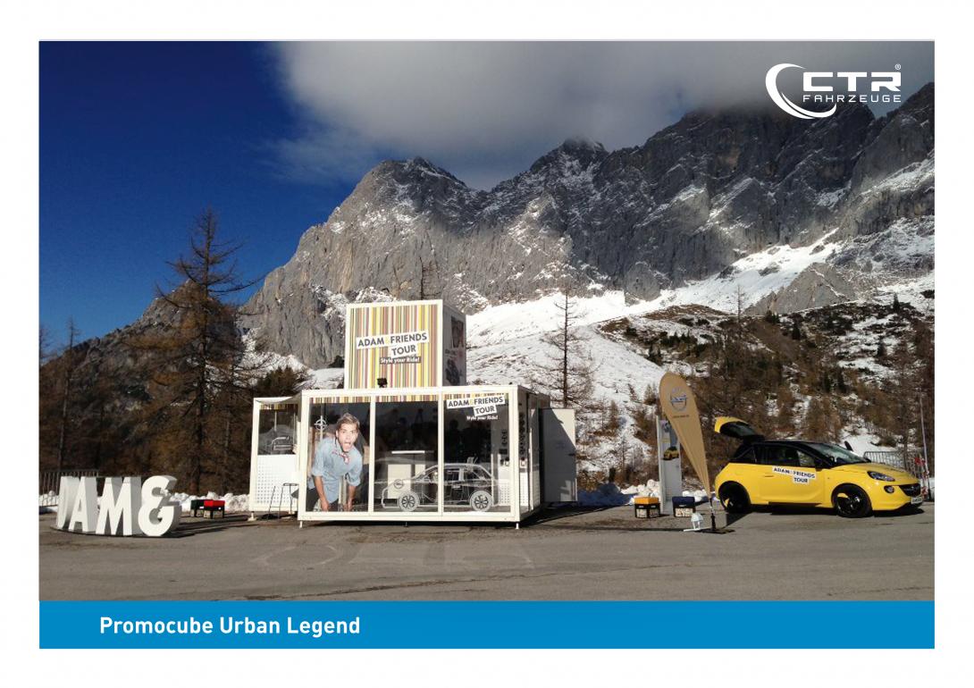 Promocube Route Counter Opel in den Bergen