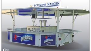 Schankwagen GA 4000-8 für Getränke Mangen