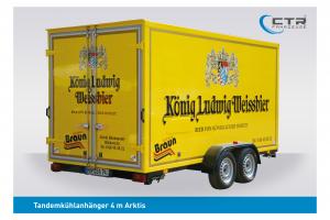 CTR-Fahrzeuge Kühlanhänger TKA Arktis 4 m König Ludwig Getränke Braun'