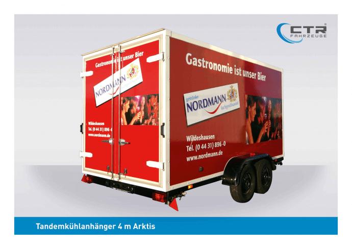 CTR-Fahrzeuge Kühlanhänger TKA Arktis 4 m Nordmann Getränke Tieflader 4m Arktis_Nordmann (2006) - blau