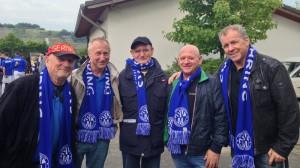 Treue Fans - Heinz Kesten, Helmut Frick, Wolfgang Webel, Horst Cordier und Ludwig Feller