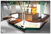 Verkaufsfahrzeug mit Zeltanbau für Getränke Berger