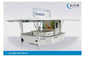 Ausschankwagen mit Traversen und Kühlhaus'