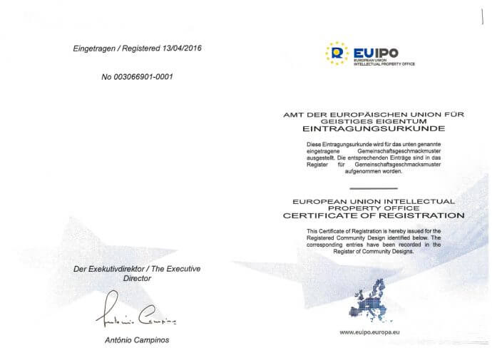 certificate of registration europen union