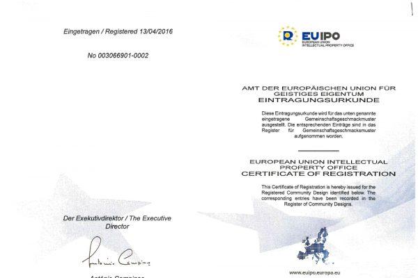 certificate of registration europen union
