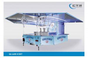Getränkeausschankwagen mit Kühlzelle und Traversen'