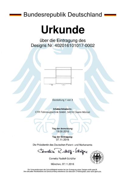 Urkunde Design Ausschankwagen 2016-2