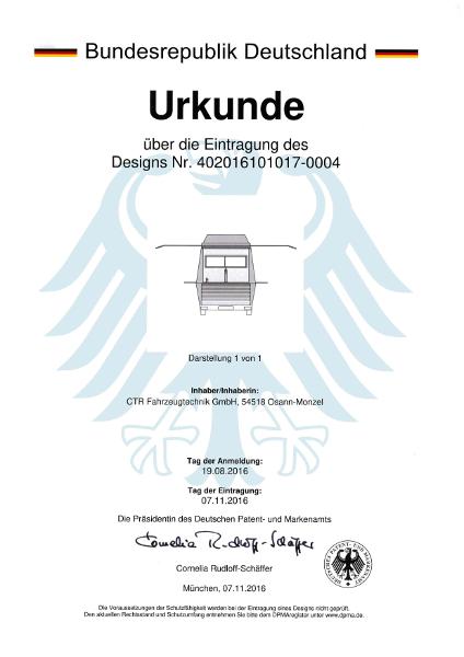 Urkunde Design Ausschankwagen 20016-4