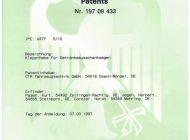 Urkunde Patent Klapptheke für Getränkeausschankwagen