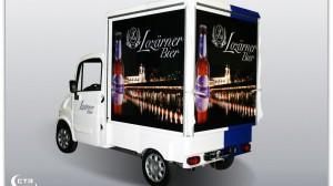 Ausschankmobil für die Lozärner Biermanufaktur als Außensteher (geschlossen)
