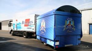 Ausschankwagen GA 4000-8 EK Shirin im Design der Valentins Weizenmanufaktur