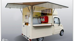 Cateringmobil als Innensteher mit Equipment