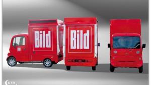 Einer der ersten Großaufträge; Promotionmobil für BILD