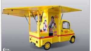 Promotionmobil für einen Fitnessdienstleister als Außensteher