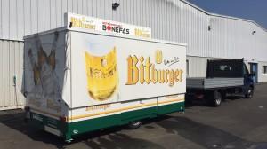 Ausschankwagen mit neuer Lackierung für Getränke Bonefas aus Lünebach