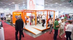 Promocube in einer der Messehallen in Frankfurt