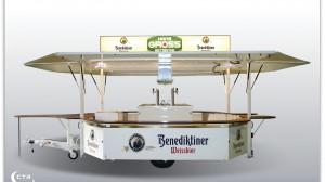 GA 4000-8 E des Getränkehändlers Gross aus Dillingen im Design der Benediktiner Weissbier Brauerei