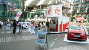 Ein spanischer Automobilkonzern präsentiert sein neues Produkt