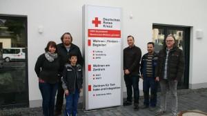 Frau Lagodka (DRK), Herr Drescher (DRK), Manuel Decker (neuer Mitarbeiter CTR), Sebastian Bauer (DRK), Patrick Schneider (Vorarbeiter, CTR), Lothar Braun (CTR)