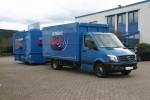 Visang-Zugfahrzeug mit neuem Ausschankwagen