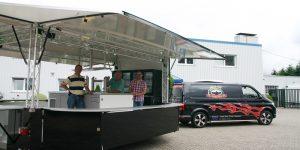 Abholung neuer Getränkeausschankwagen Spezilitätenservice Ullrich