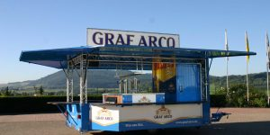 Getränkeausschankwagen Privatbrauerei Graf Arco