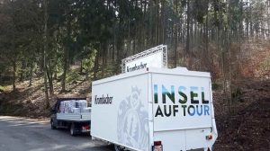 Der Ausschankwagen auf dem Weg nach Kreuztal