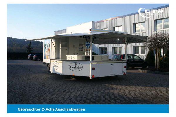 Gebrauchter Ausschankwagen mit Kühlzelle
