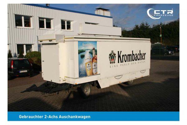 Gebrauchter Ausschankwagen mit Kühlzelle - geschlossener Zustand