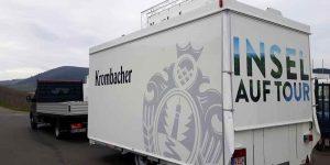Der Ausschankwagen verlässt unser Werk in Osann-Monzel