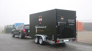 Der neue Kühlanhänger von Günnis Barcatering.