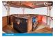 Weinausschankwagen GA 3500-8 EAT Traversensystem Detailansicht gekühlter Rollauszug