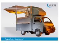 Piaggio Porter Innensteher Naskrent Suppenmobil Frontansicht geöffnet