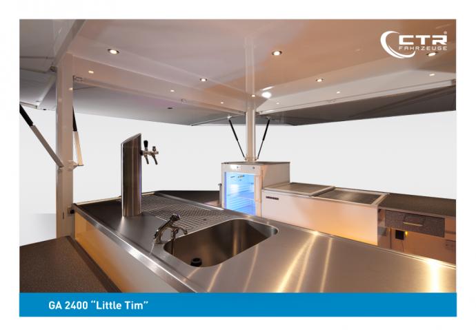 CTR Getränkeausschankwagen Modell Little Tim Vorführfahrzeug Detailansicht